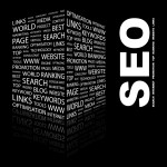 SEO services concept in box